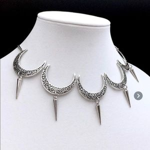 NWT Gothic Moon Necklace